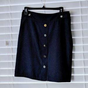 Odille military mixed button front cotton skirt 4